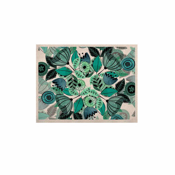 """Famenxt """"Mint Sognare"""" Green Abstract KESS Naturals Canvas (Frame not Included)"""