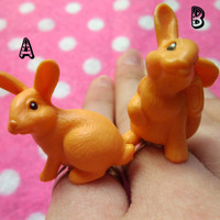 Curious Alice in Wonderland Rabbit BFF Friendship Rings