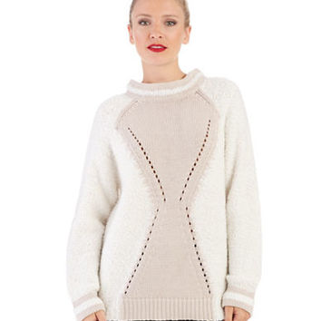 French Connection Perforated Hourglass Sweater