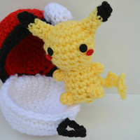 Chibi Pikachu Plush Amigurumi Doll crochet Pokemon
