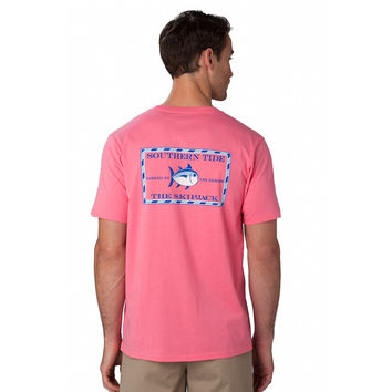 Original Skipjack Tee Shirt in Coral by Southern Tide