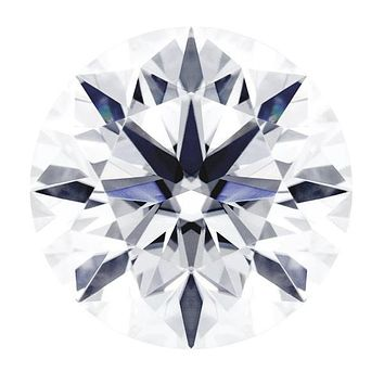 Certified Round Hearts & Arrows Fire & Brilliance Loose Moissanite Stone - 1.00 Carats - E Color - VVS2 Clarity