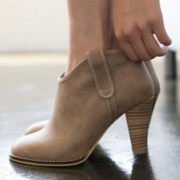 Sweet delicate high-heeled boots