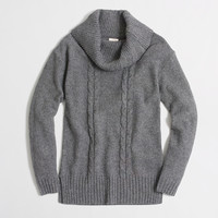 Factory placed cable-knit tunic sweater