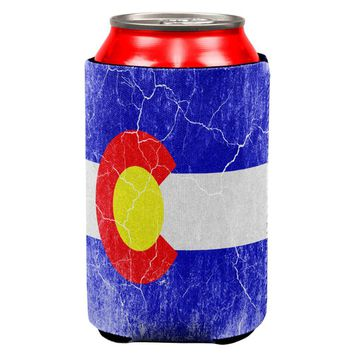 Colorado Vintage Distressed State Flag All Over Can Cooler