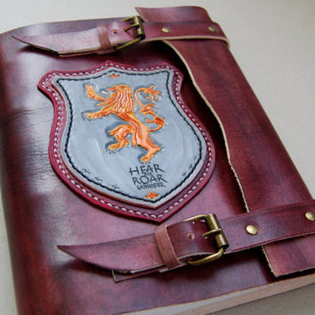 Lannister leather journal, Game of Thrones Journal, Cosplay Leather, Mediavel Leather, Handmade Journal, Personalized Journal, Gift