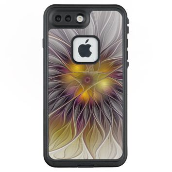 Luminous Colorful Flower, Abstract Modern Fractal LifeProof® FRĒ® iPhone 7 Plus Case
