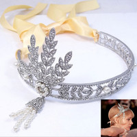 Great Gatsby Dress Replica Headpiece Daisy Flapper 1920s Headband Fascinator