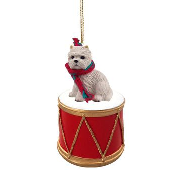 WEST HIGHLAND TERRIER DRUM ORNAMENT