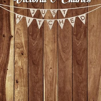 Custom Rustic Wedding Wood Step And Repeat Backdrop - C047