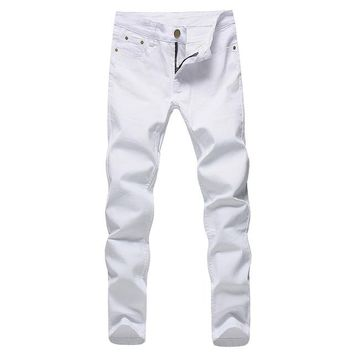 Fashion white Denim Jeans