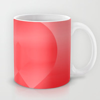 Danish Heart Love Mug by Gréta Thórsdóttir #love #heart #girly #Christmas #red #scarlet #ombre #pattern #breakfast