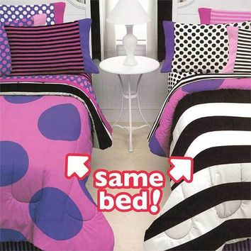 Little Miss Matched Bedding Set Reversible Double Vision Bed