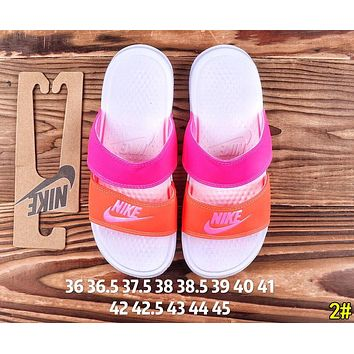 NIKE Fashion Women Men Casual Flats Slipper Sandals Shoes 2#