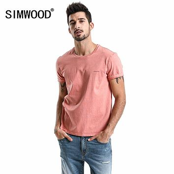 Summer New T-Shirt Men Back Ink Plant Slim Fit  O-Neck Fashion Tshirt Casual Tee Cotton Tops