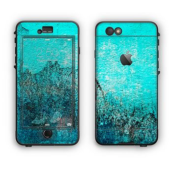 The Grungy Teal Surface V3 Apple iPhone 6 LifeProof Nuud Case Skin Set