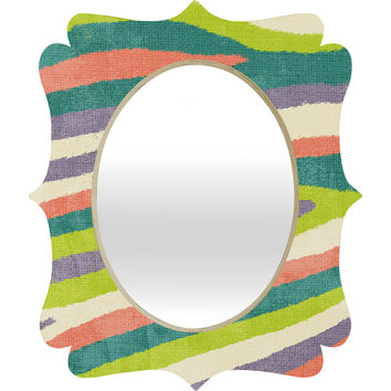 Nick Nelson Fruit Stripes Quatrefoil Mirror