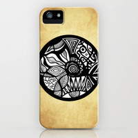 Abstract Tribal Original Abstract Illustration Vintage iPhone Case by Pom Graphic Design  | Society6