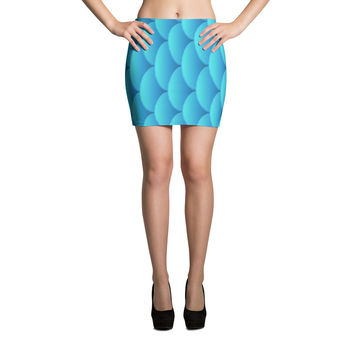 Fish Scale Print Cut & Sew Mini Skirt