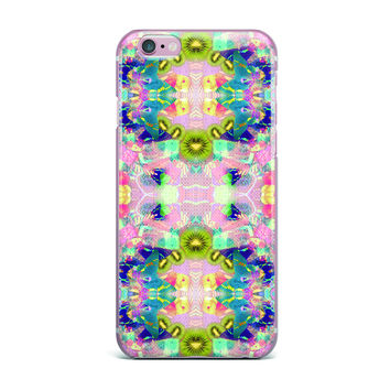 "Danii Pollehn ""LSD"" Pink Green iPhone Case"
