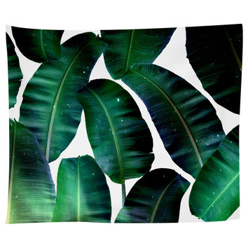 Cosmic Banana Leafs Tapestry