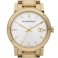 Burberry Large Check Stamped Bracelet Watch, 38mm | Nordstrom
