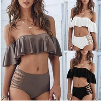 Off Shoulder Bikini Set Womens Summer Swimsuite Swimwear