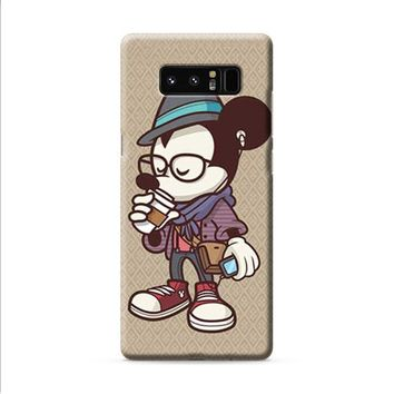 Mickey Mouse hipster coffee Samsung Galaxy Note 8 case