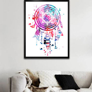 Dream Catcher 2 Watercolor painting art Print, Children's Wall Art, Home Decor, dream catcher art, watercolor painting,dream catcher poster