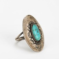 Vintage Engraved Turquoise Ring - Urban Outfitters