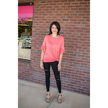 Score Big Jersey Knit Tunic Top