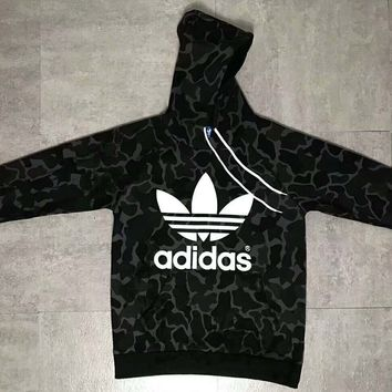 Adidas Fashion Casual Long Sleeve Camouflage Pullover Sweater G-ZDL-STPFYF