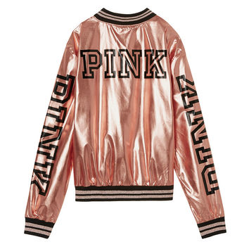 Fashion Show Bomber - PINK - Victoria's Secret