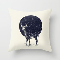 Snow Flake Throw Pillow by Daniel Teixeira