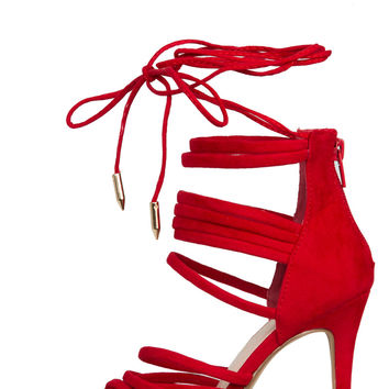 Iggy Lace Up Heel (Red)