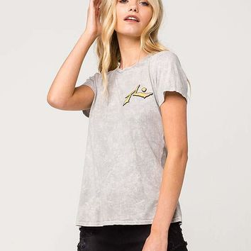 RUSTY Banner Mineral Wash Womens Tee | Graphic Tees