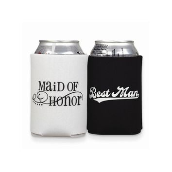 Maid of Honor & Best Man Can Coolers - Perfect Wedding Gift