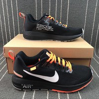 OFF-WHITE x Nike Air Zoom Structure 21 Black Sports Running Shoes - Best Deal Online