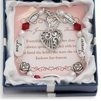 Love, Grandmother, Forever Silver & Crystal Expressively Yours Bracelet: Jewelry: Amazon.com