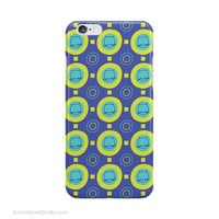Cute iPhone Case Kawaii Cat Pattern Phone Cases Gift For Friend Her Girlfriend Blue Geometric Gifts Device 6 Plus 6s 5 5s Galaxy s7 s6 s5