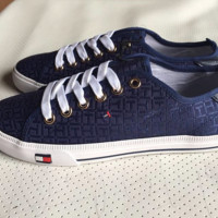 """""""Tommy Hilfiger"""" Fashion Canvas Flats Sneakers Sport Shoes"""