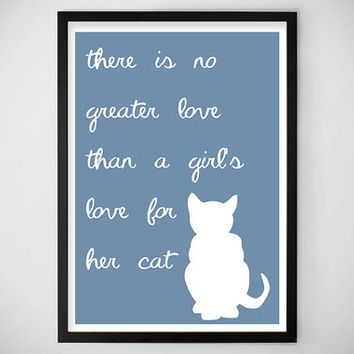 GIFT IDEAS / SALE / Home Decor / Art Print / Dorm Decor / college / gift ideas / crazy cat lady