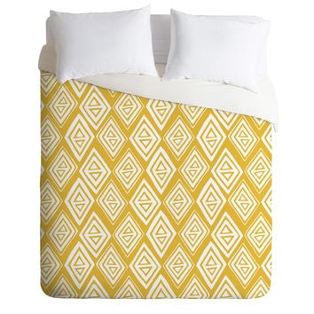 Heather Dutton Diamond In The Rough Gold Duvet Cover