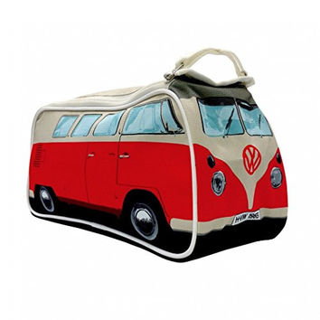 VW Volkswagen T1 Camper Van Toiletry Wash Bag - Red