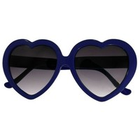 Lolita Heart Shaped Sunglasses In Blue