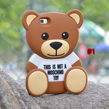 Moschino Teddy Bear Silicone iPhone 6 / 6S Plus Case