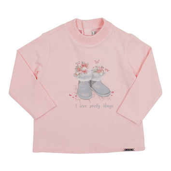 Mayoral Baby Girls' Rose Boots T-Shirt