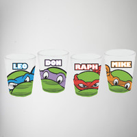 Teenage Mutant Ninja Turtles Shot Glass Set 4 Pk