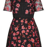 **LIMITED EDITION Flower Shift Dress - Going Out Dresses - Dresses - Clothing - Topshop USA