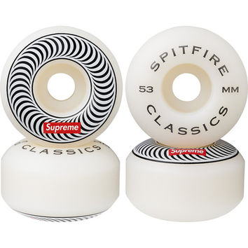 Supreme: Supreme/Spitfire® Wheels (Set of 4) - White 53mm